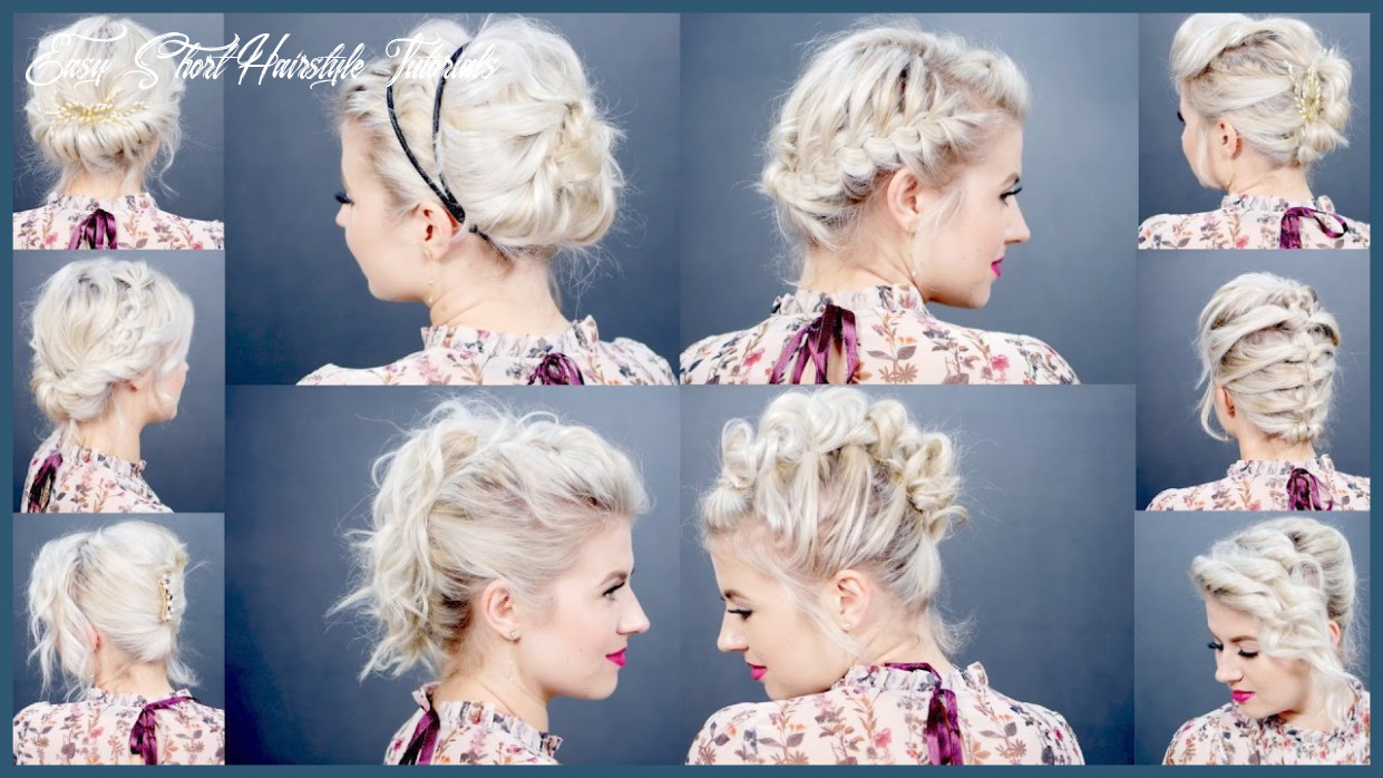 Short Hairstyle Tutorials 11 11 Easy Updo Tutorials for Short ...