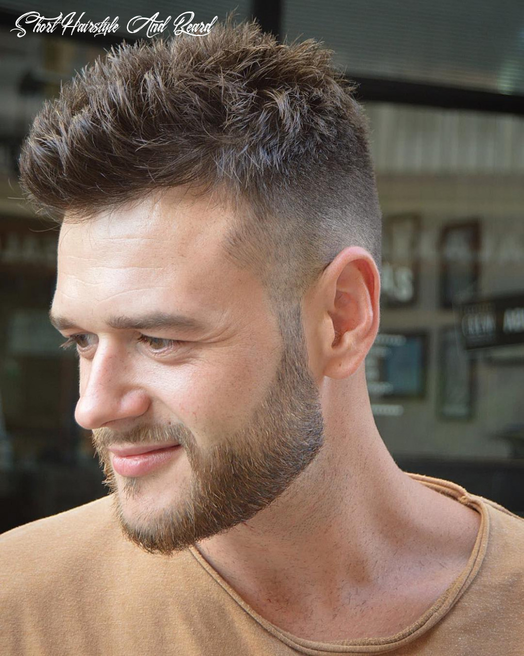 Short hairstyle with beard short hairstyle and beard
