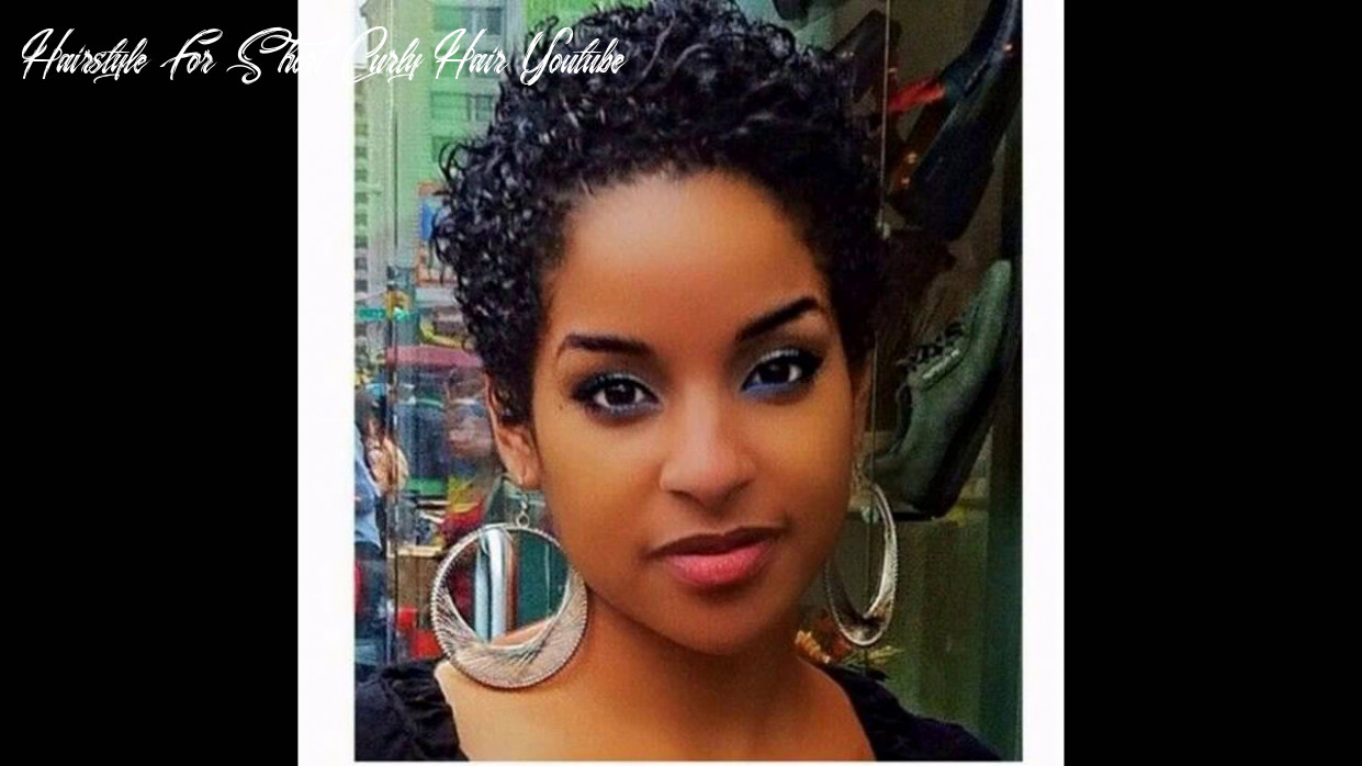 Short hairstyles black hair hairstyle for short curly hair youtube
