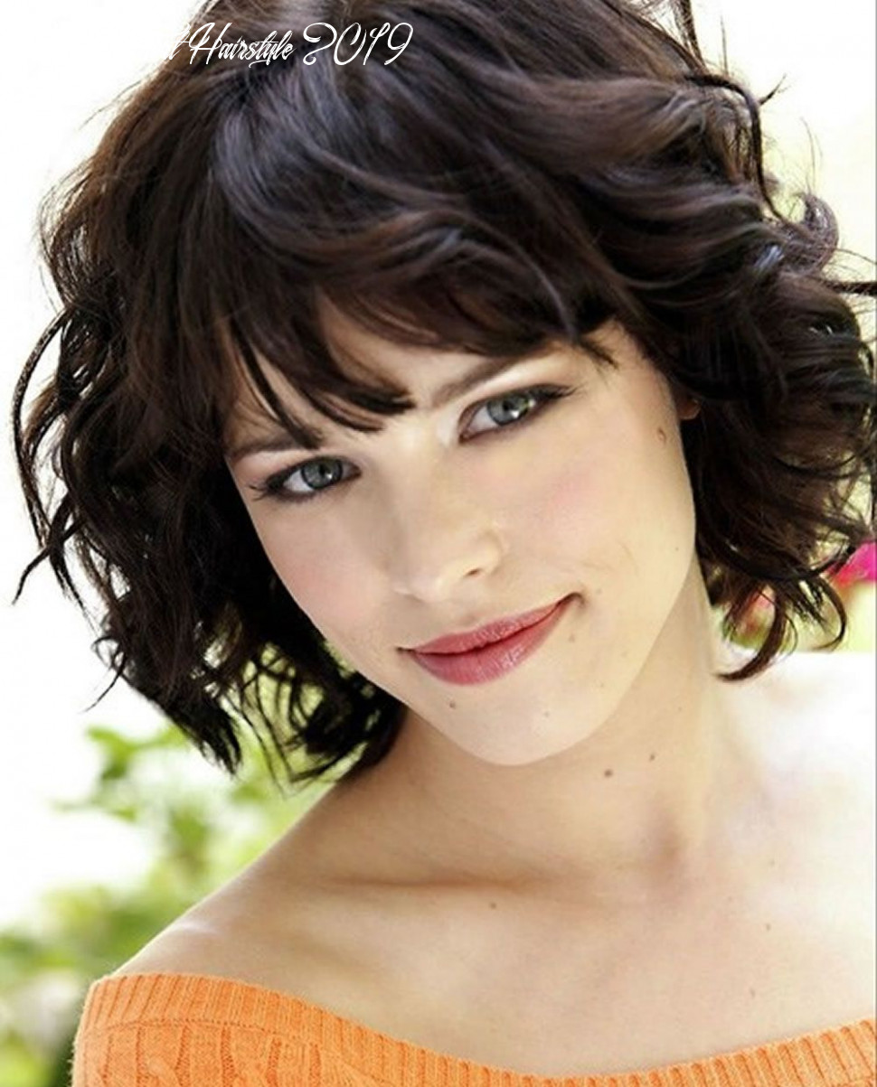 Short hairstyles for curly hair 11 | short haircuts with bangs