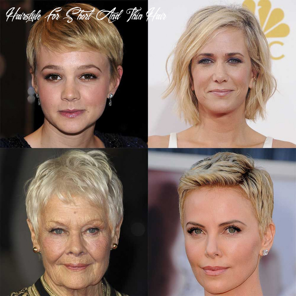 Short hairstyles for fine or thin hair