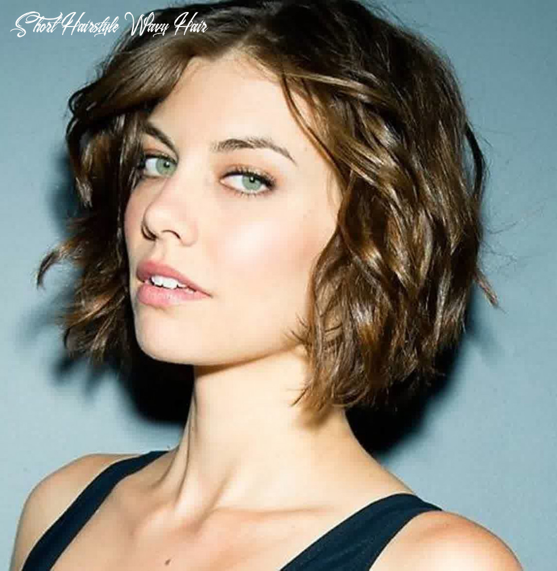 Short hairstyles for oval faces with wavy hair | short wavy