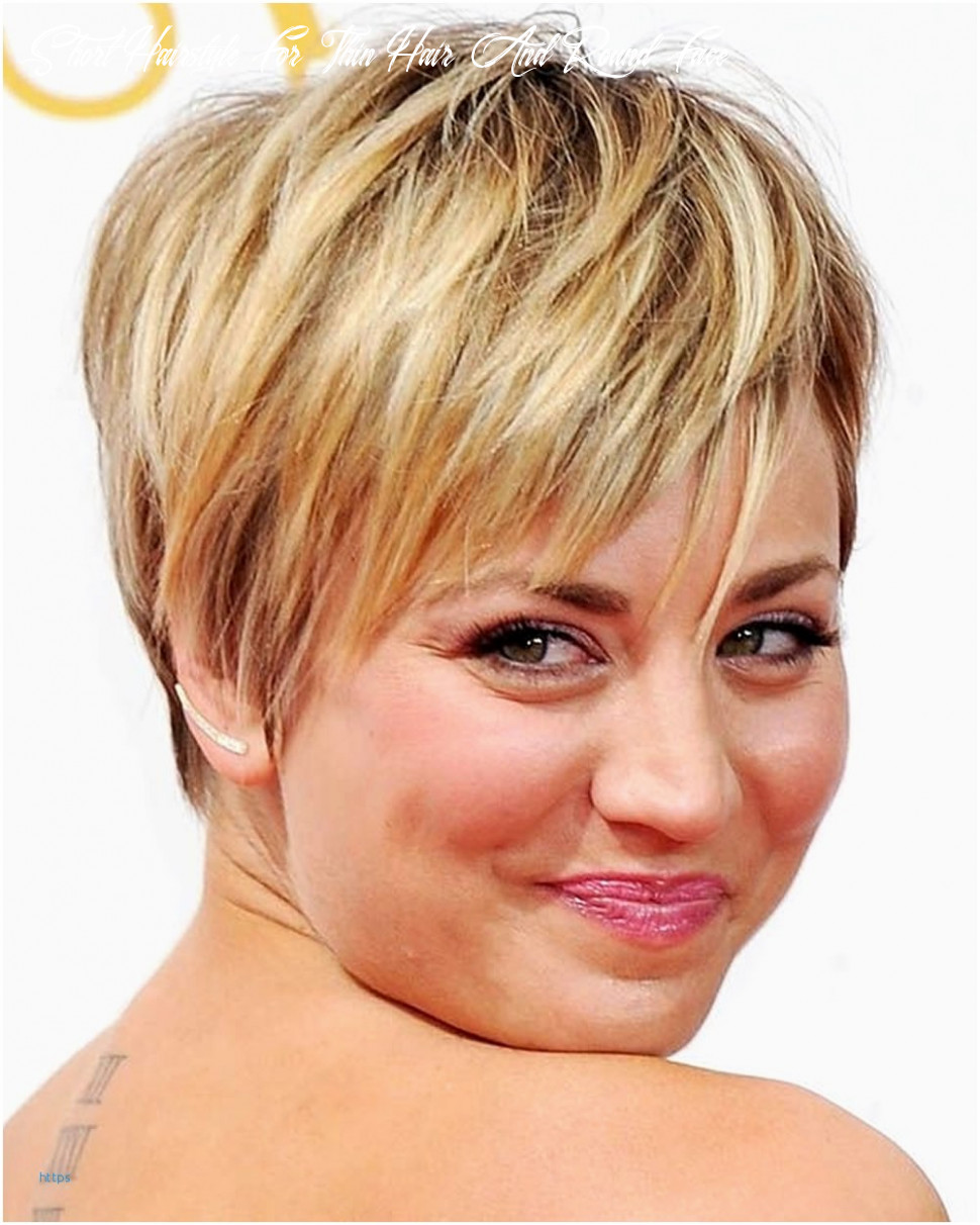 Short hairstyles for round faces and thin hair new pixie