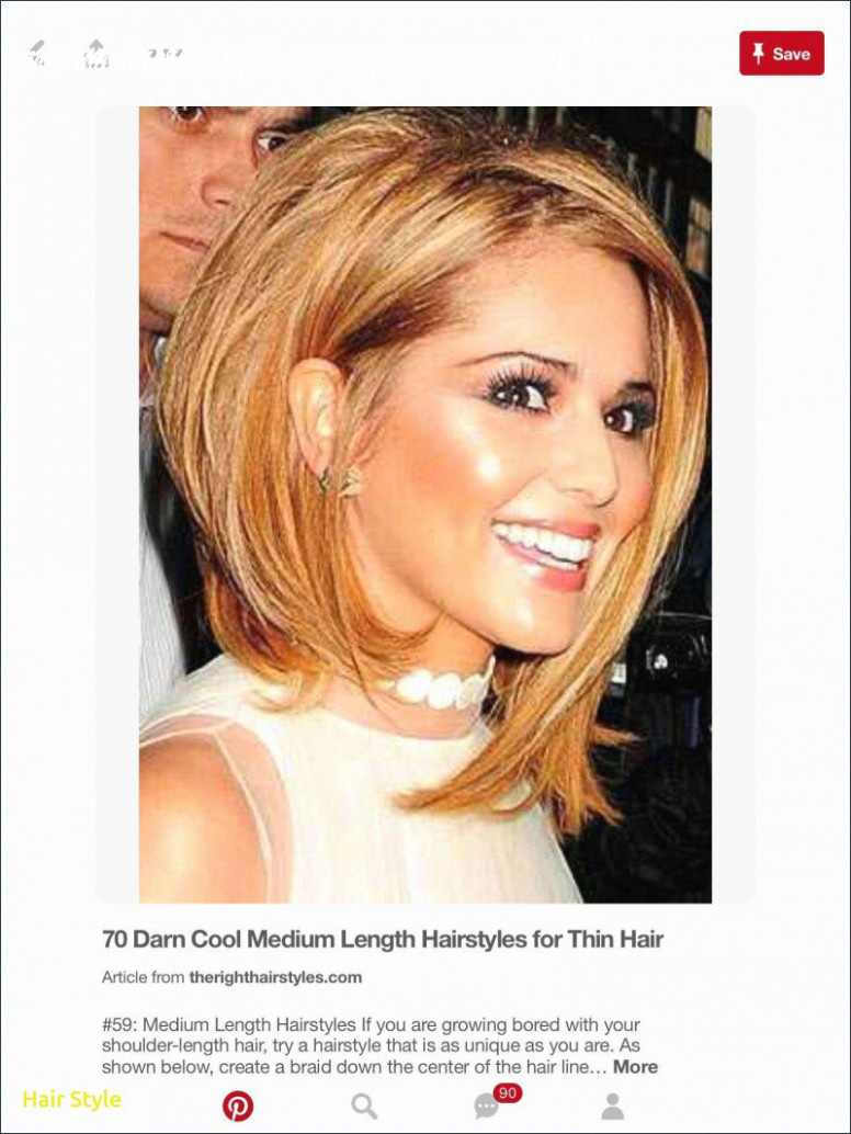Short hairstyles for square faces and fine hair awesome lovely