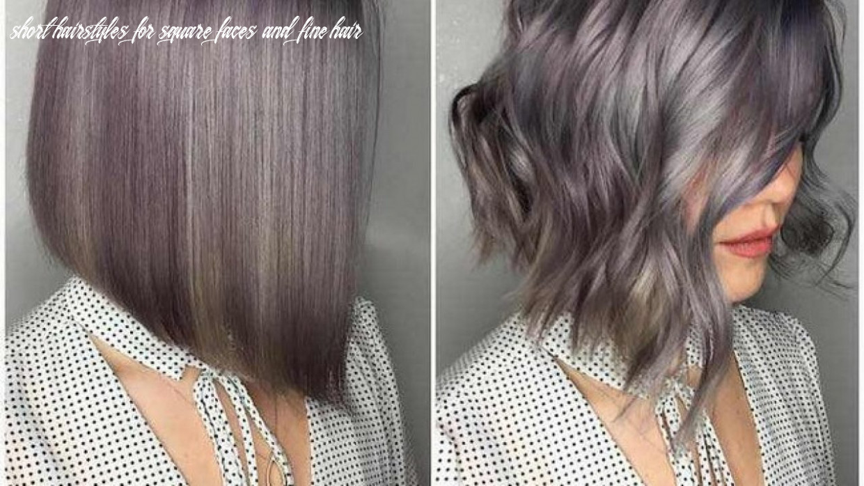 Short hairstyles for square faces and fine hair medium length