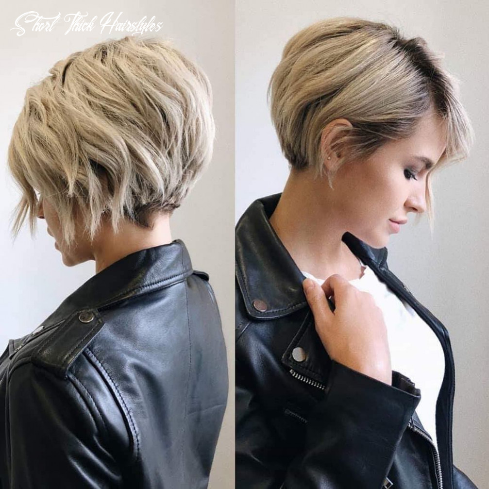 Short hairstyles for thick hair 11 female short thick hairstyles