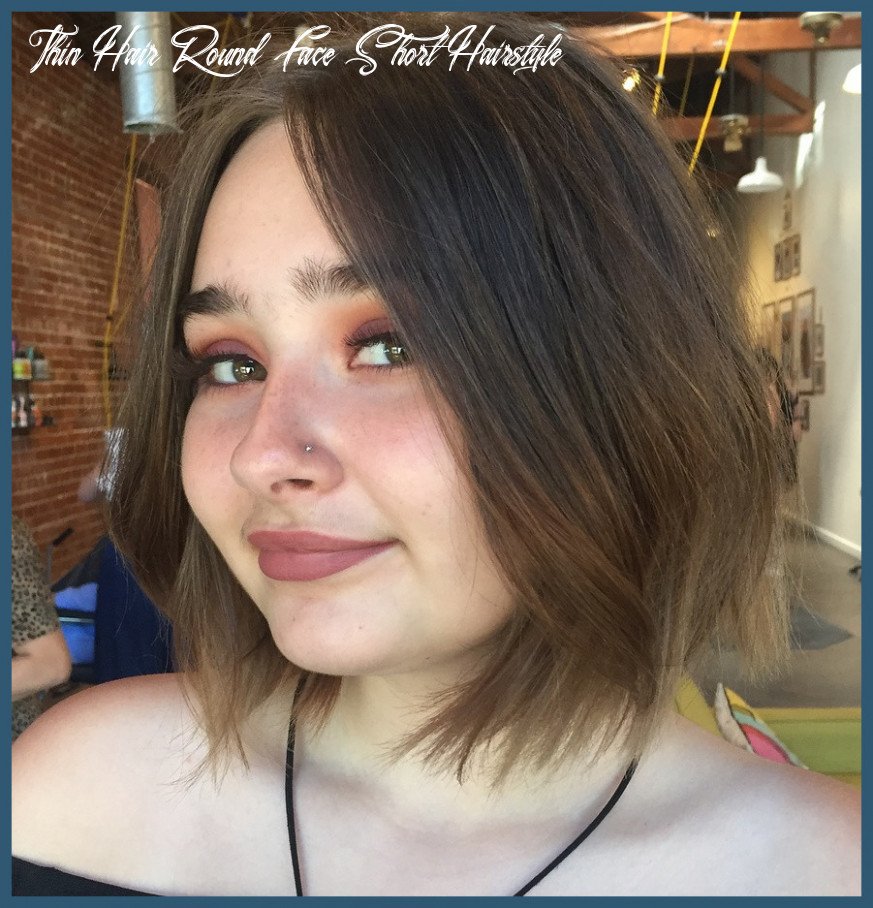 Short hairstyles for thin hair round face 8 8 short hairstyles
