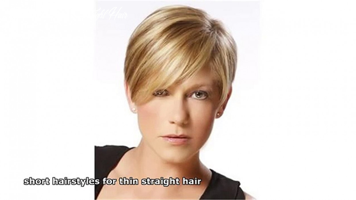 Short hairstyles for thin straight hair short hairstyle straight hair