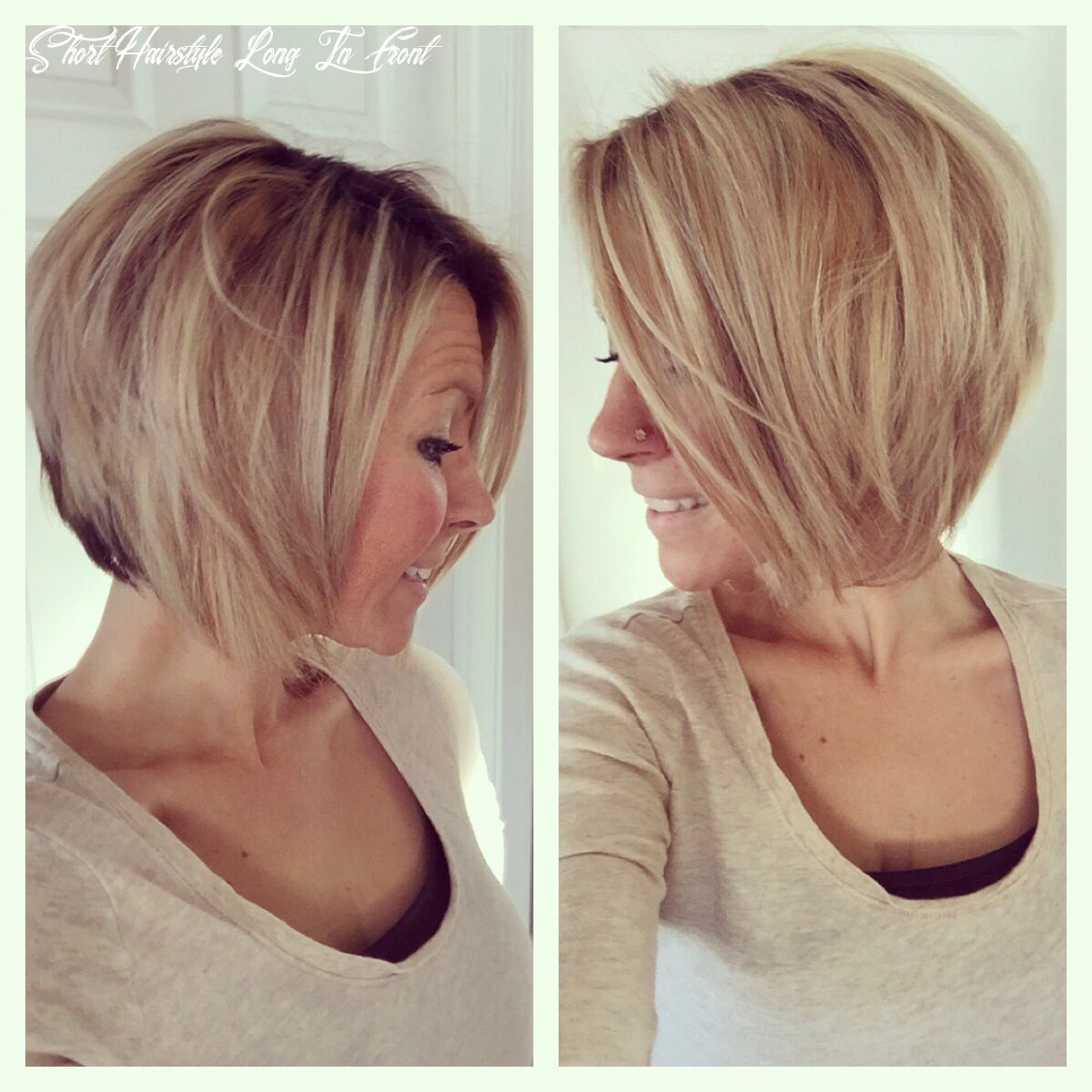 Short hairstyles longer in front photo 9   angled bob haircuts