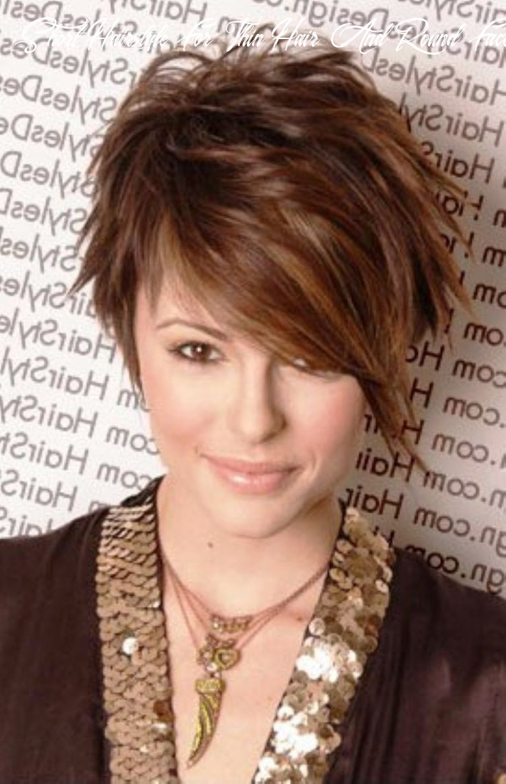 Short hairstyles round face thin hair google search | frisuren