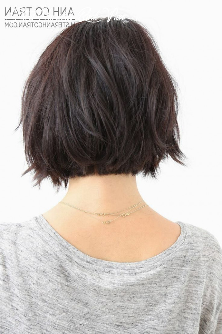 Short length hairstyles back view | frisur dicke haare, bobfrisur