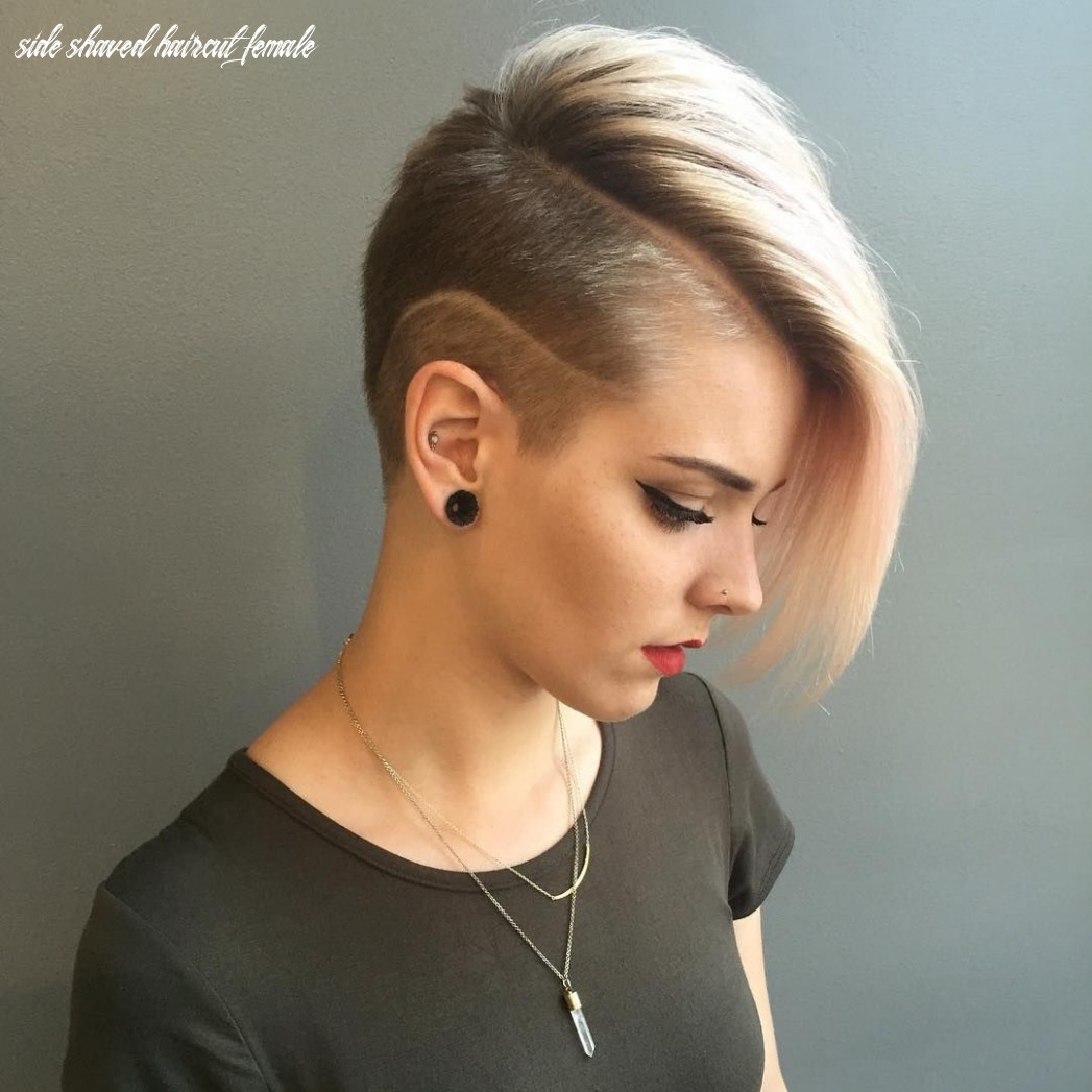 Short listed coolest shaved hairstyles for women side shaved haircut female