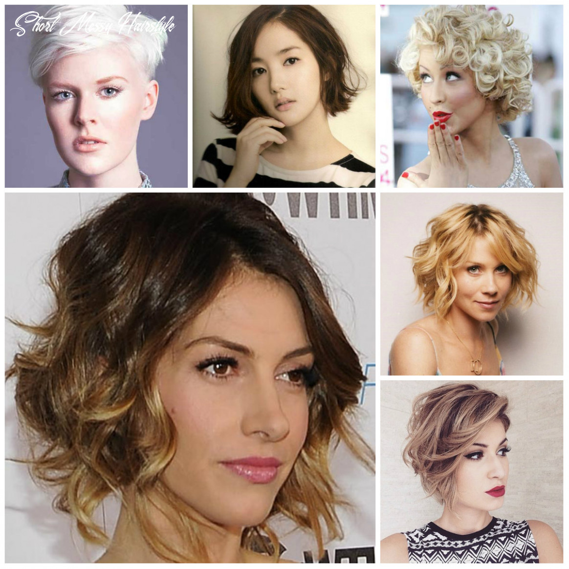 Short messy hairstyle inspiration for 12   12 haircuts