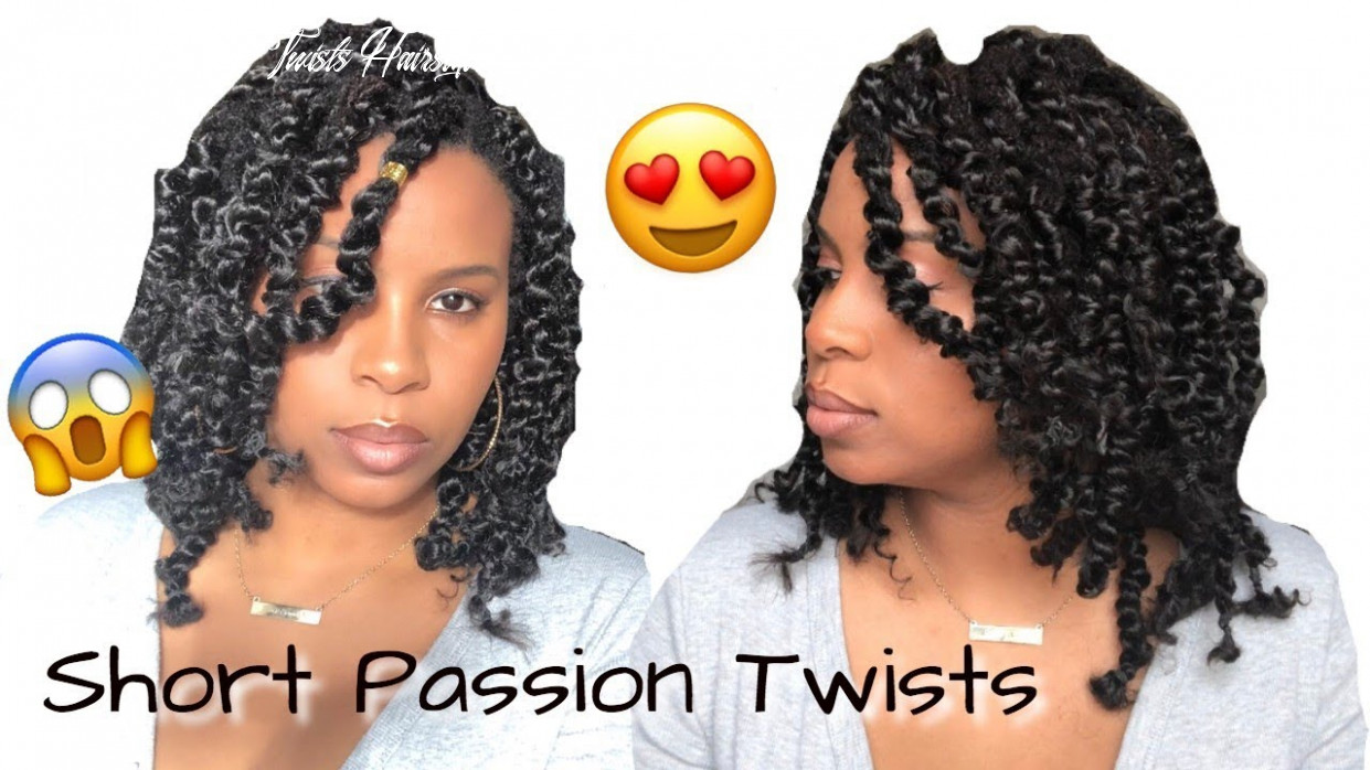 Short Passion Twists Over Locs | Rubber Band Method | Step-by Step Tutorial