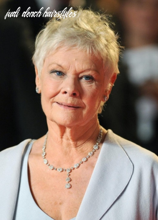 Short pixie cut for mature women over 9 judi dench hairstyles