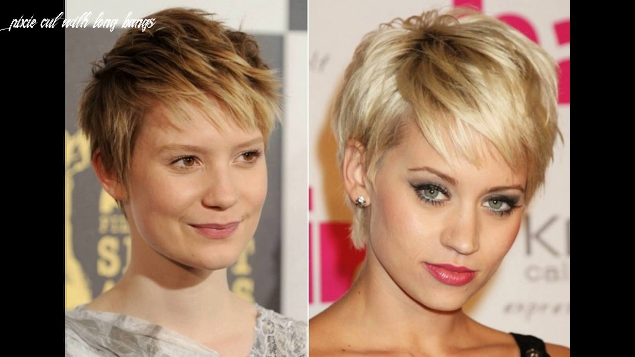Short pixie haircut with long bangs youtube pixie cut with long bangs