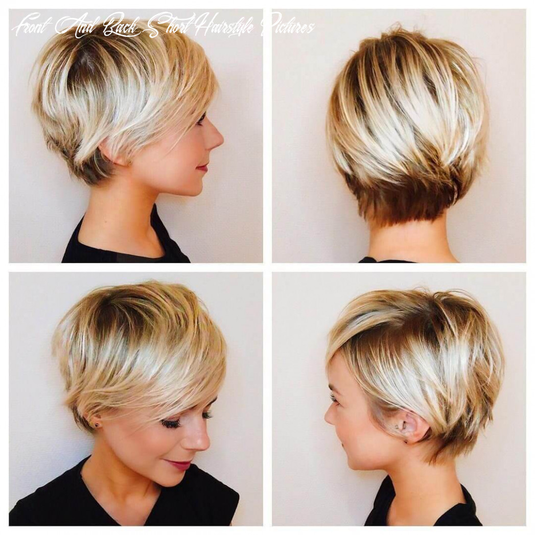 Short pixie haircuts front and back view 10 front and back short hairstyle pictures