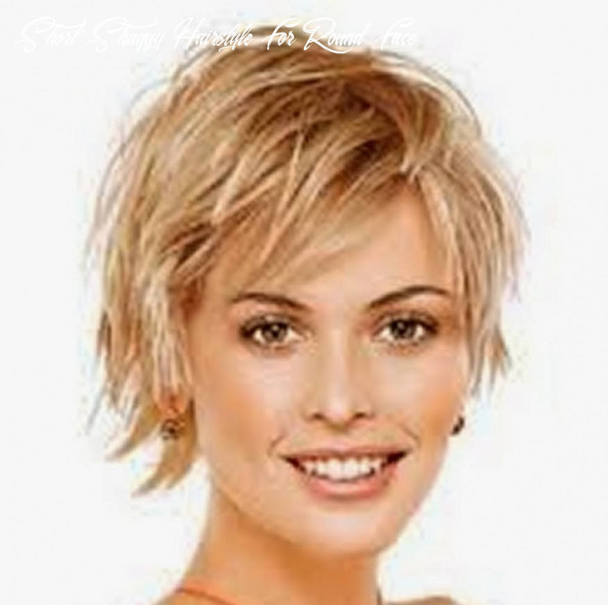 Short Shaggy Hairstyle For Round Face