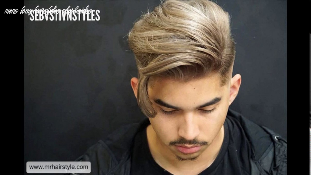 Short sides long top haircut men youtube mens long hairstyles short sides