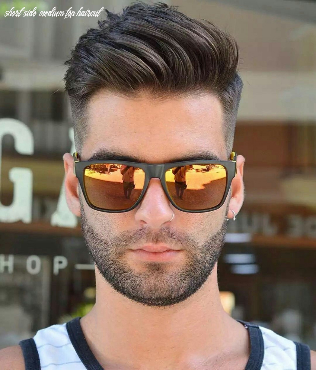 Short sides medium top | mens hairstyles, mens haircuts short
