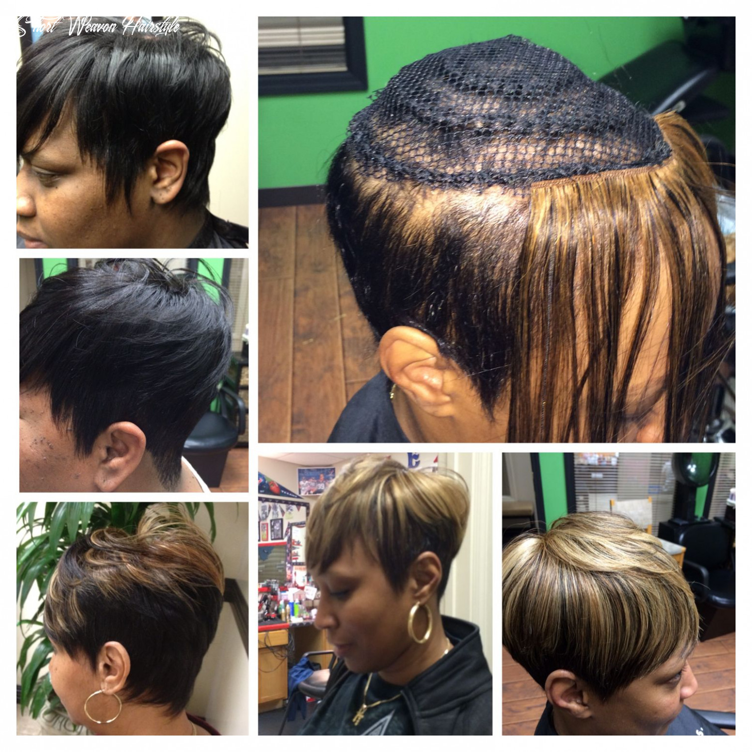 Shorthair inspired by summer short crop sew ins, no glue used in