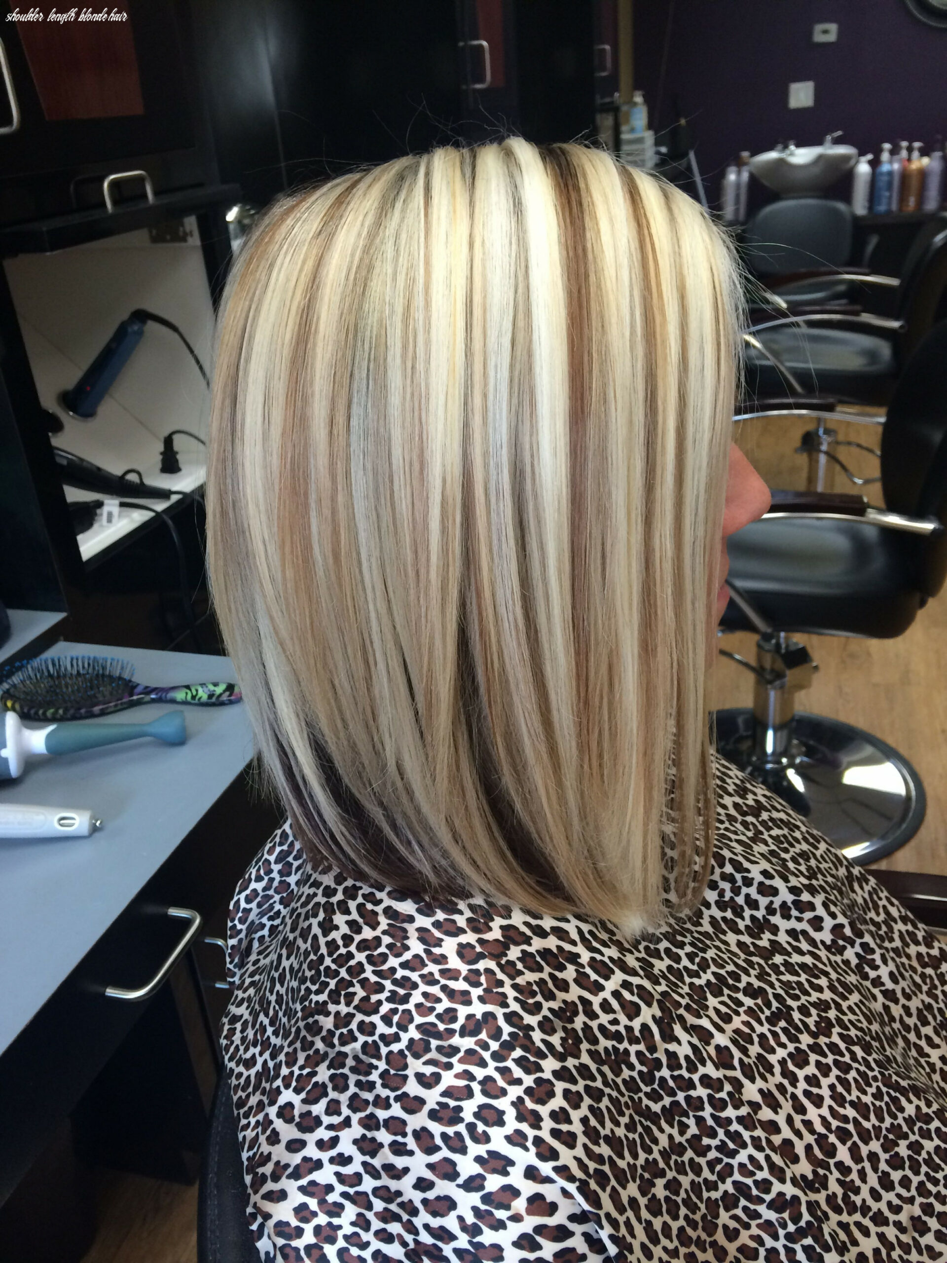 Shoulder length blonde bob with lowlights | Shoulder length bob ...
