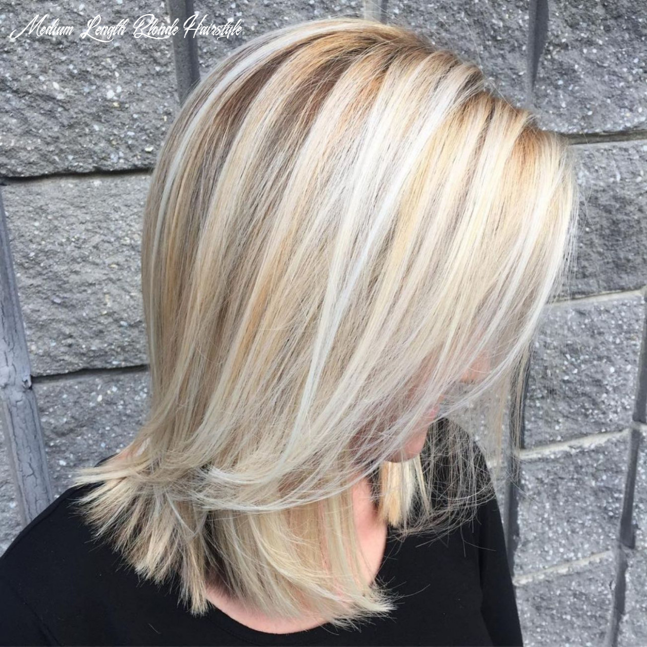 Shoulder length blonde hairstyle #blondehairstylesforwomen