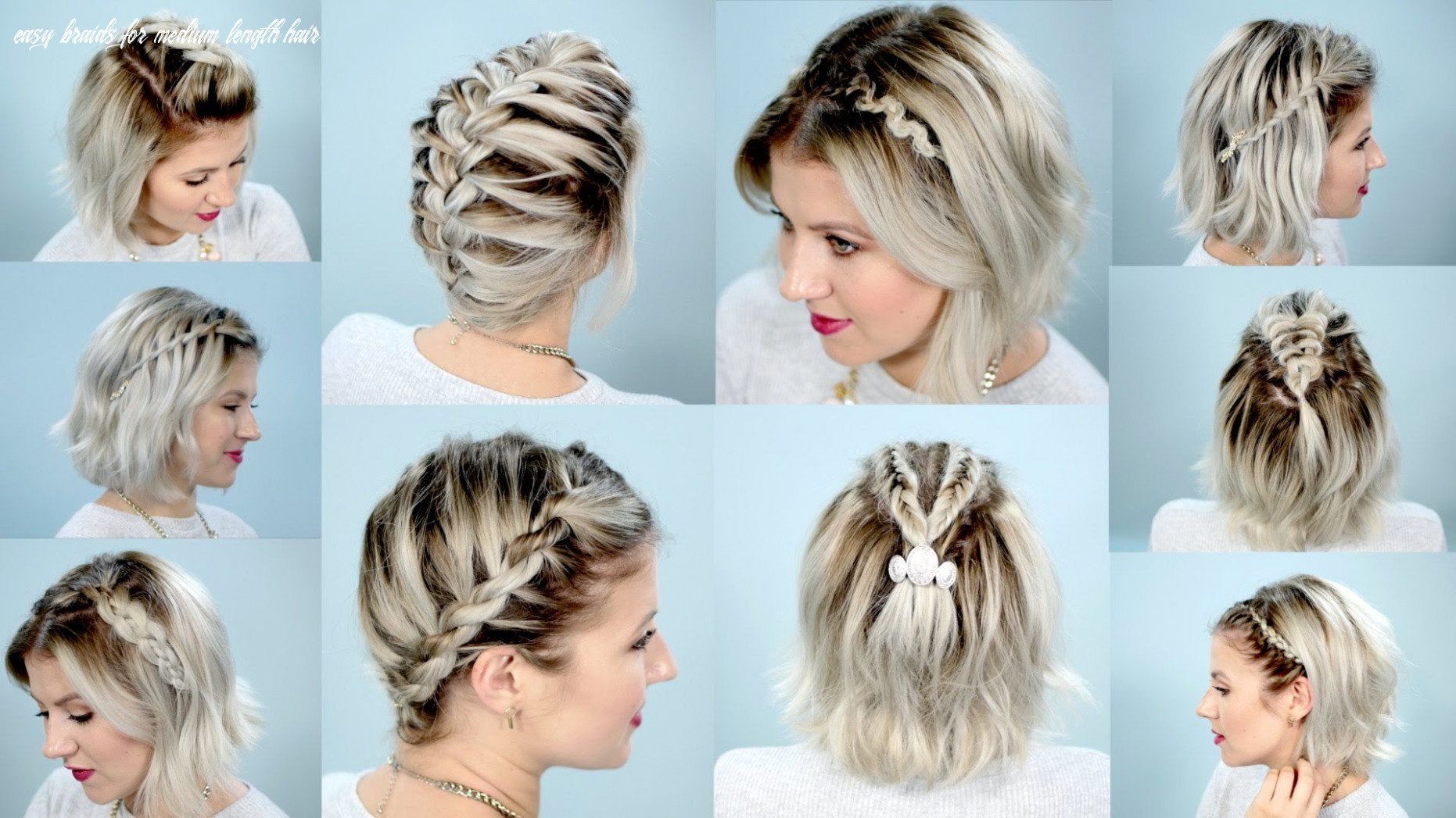 Shoulder length hair braiding: 10 easy to use instructions for