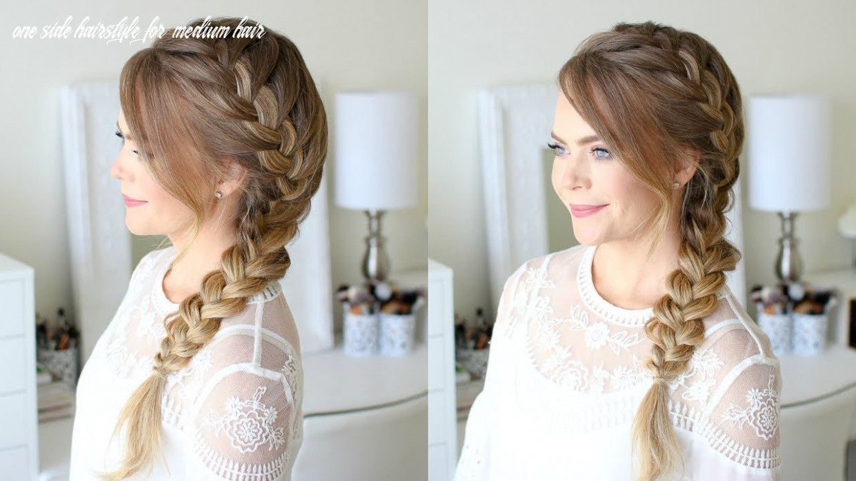 Side french braid | missy sue one side hairstyle for medium hair