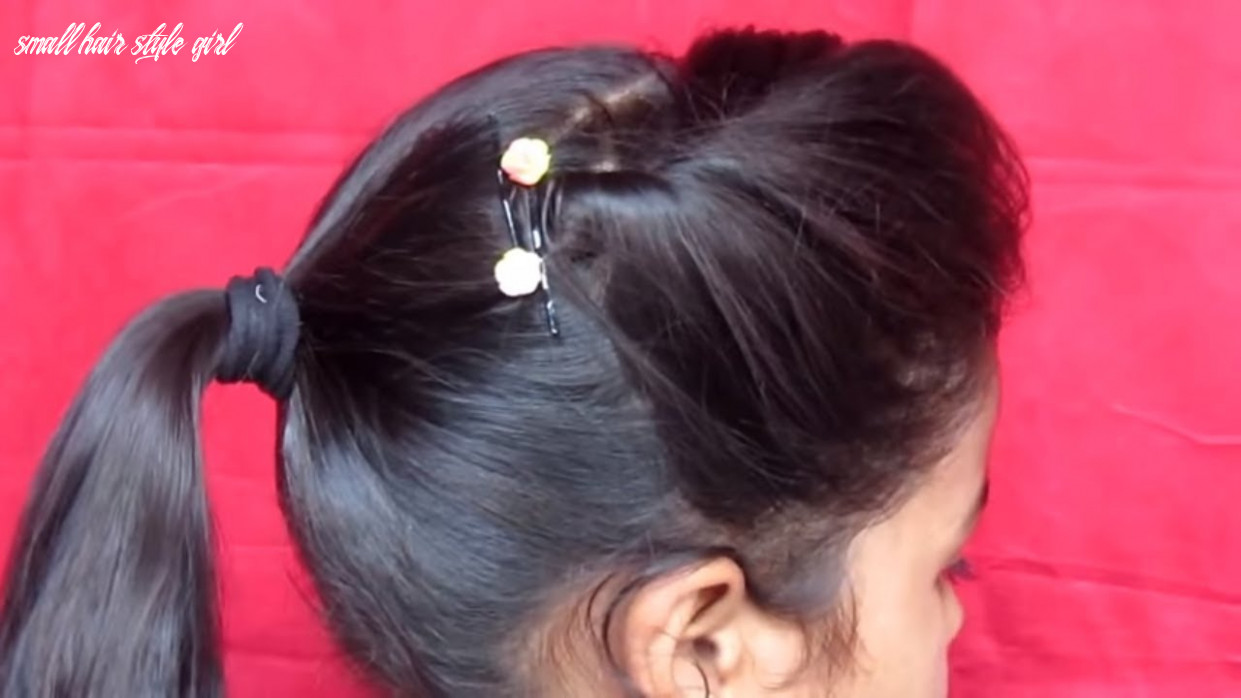 Side puff with ponytail hairstyle || small girl hairstyle small hair style girl