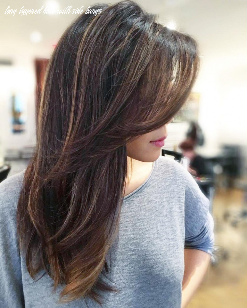 Side swept bangs: 8 ideas that are hot in 8 long layered hair with side bangs