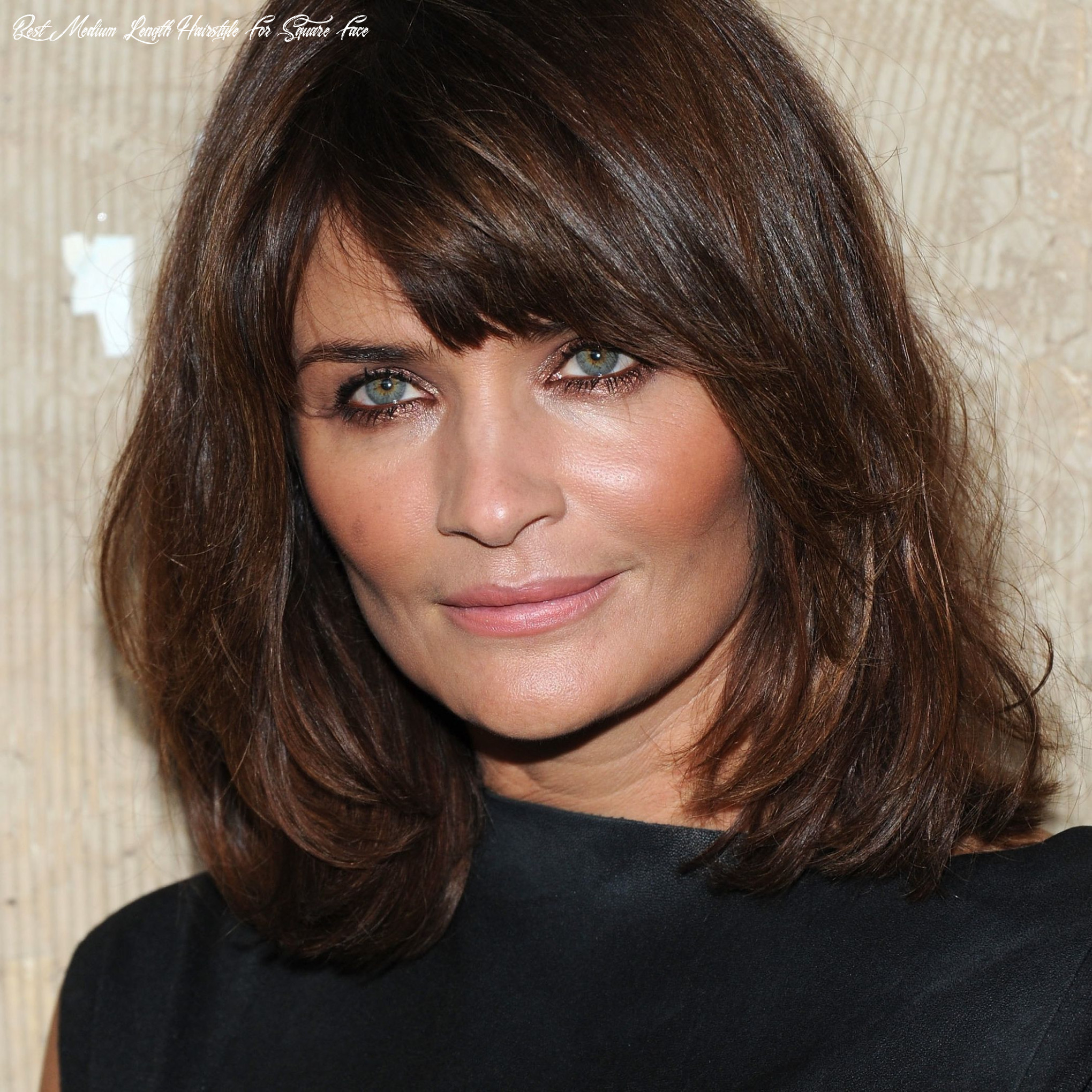 Side swept bangs, shoulder length hair for square faces best medium length hairstyle for square face