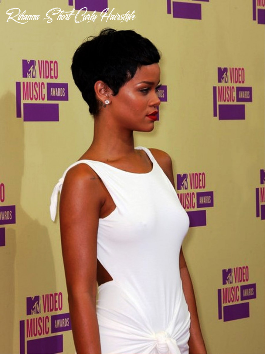 Side view of rihanna short curly hairstyle   hairstyles cool rihanna short curly hairstyle