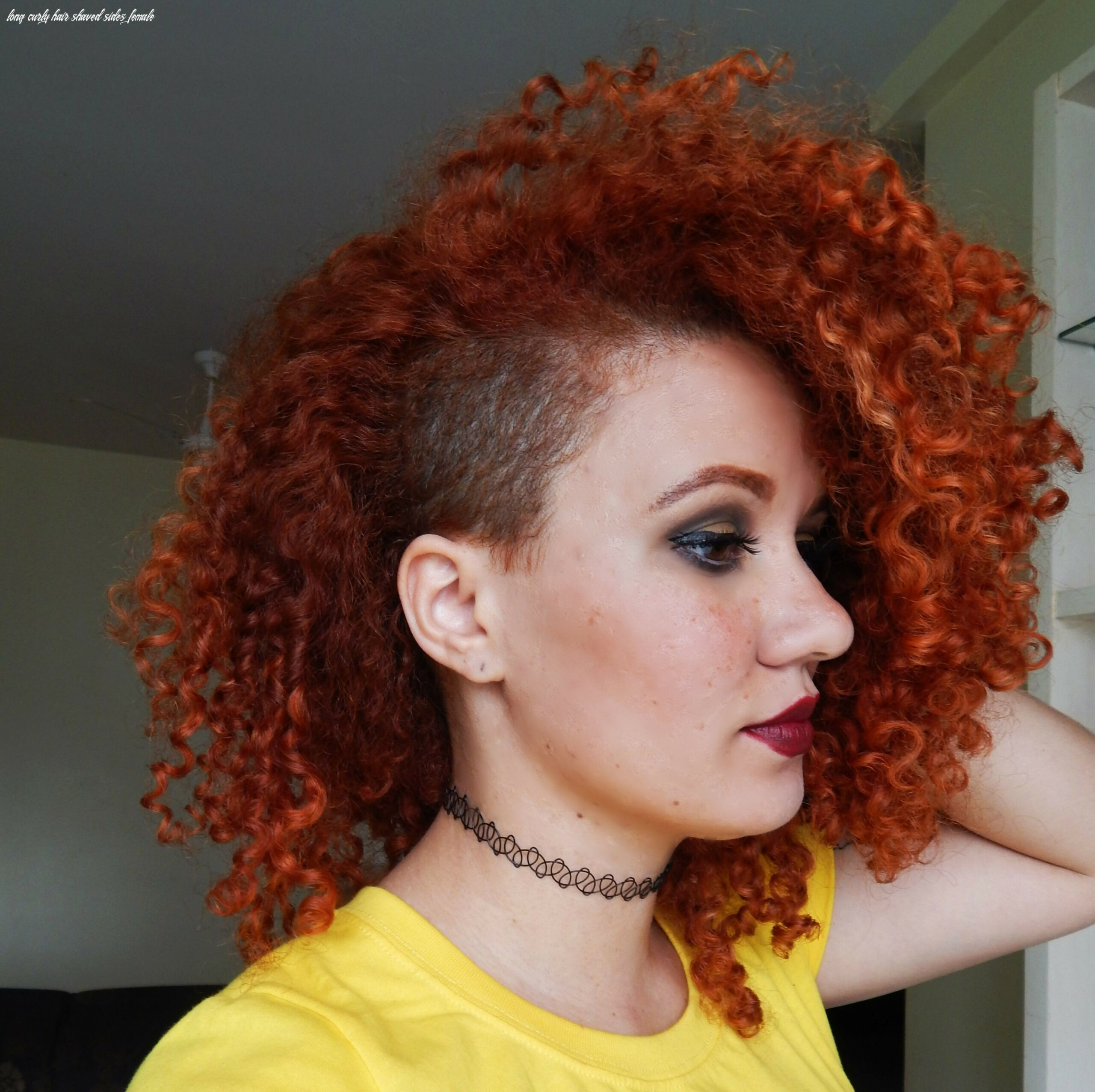 Sidecut curls | long hair shaved sides, half shaved head hairstyle
