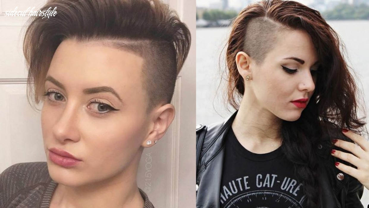 Sidecut haircut side shave hair | side cut hairstyles for women/girls sidecut hairstyle