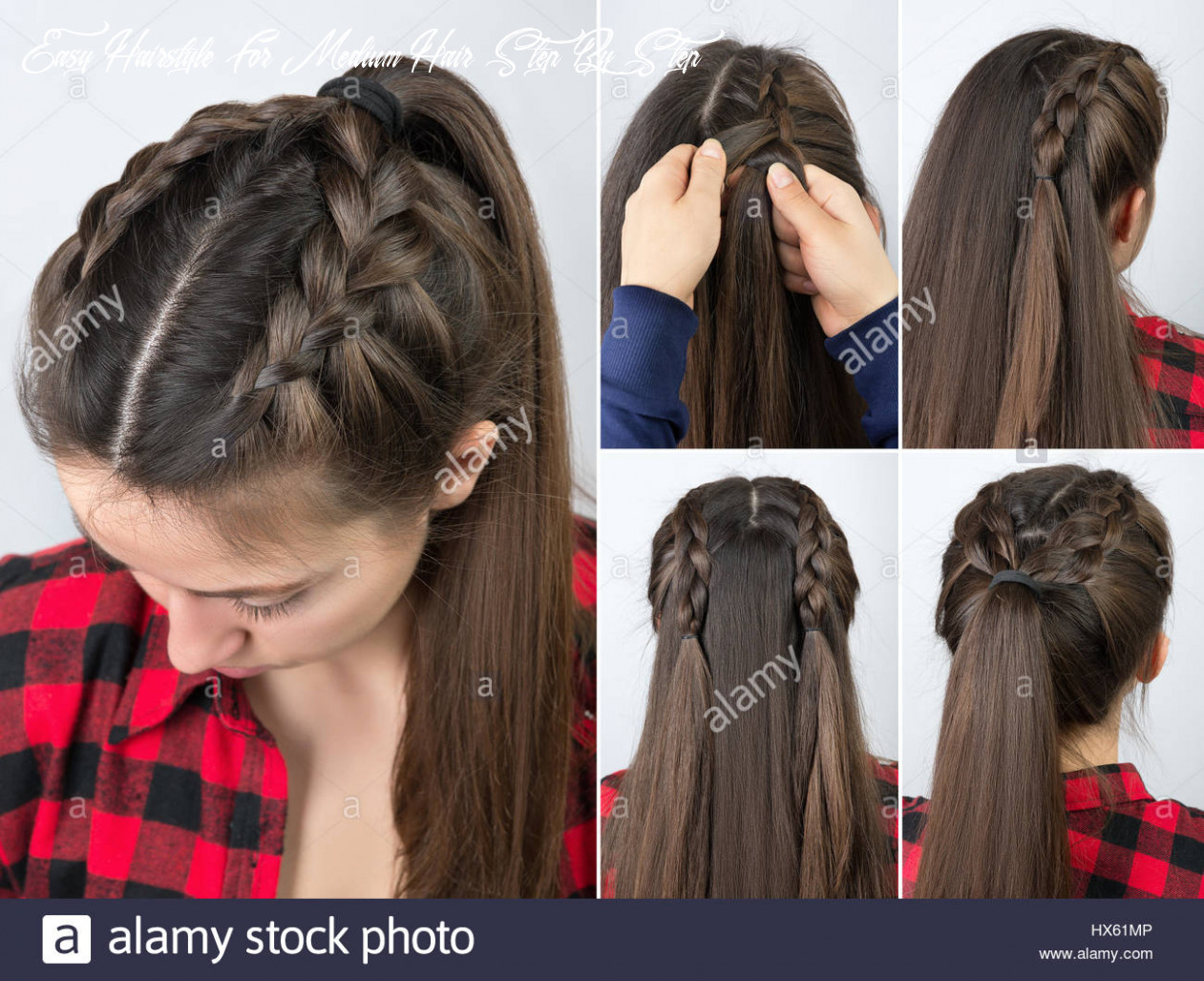 Simple braided hairstyle tutorial step by step easy hairstyle for