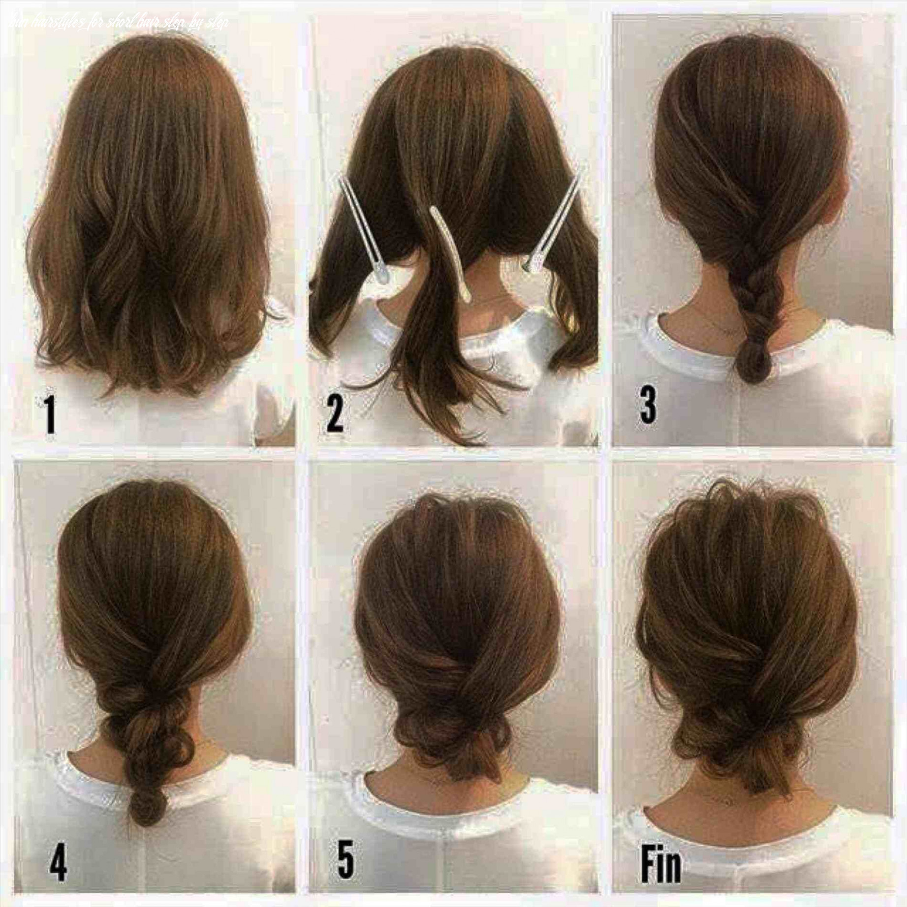 Simple bun hairstyles for long hair step by step instructions