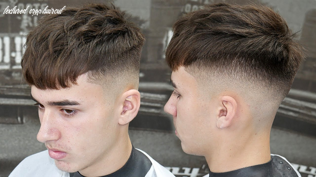 Simple haircut tutorial: how to do a mid skin fade with a textured crop || best haircut 9 textured crop haircut