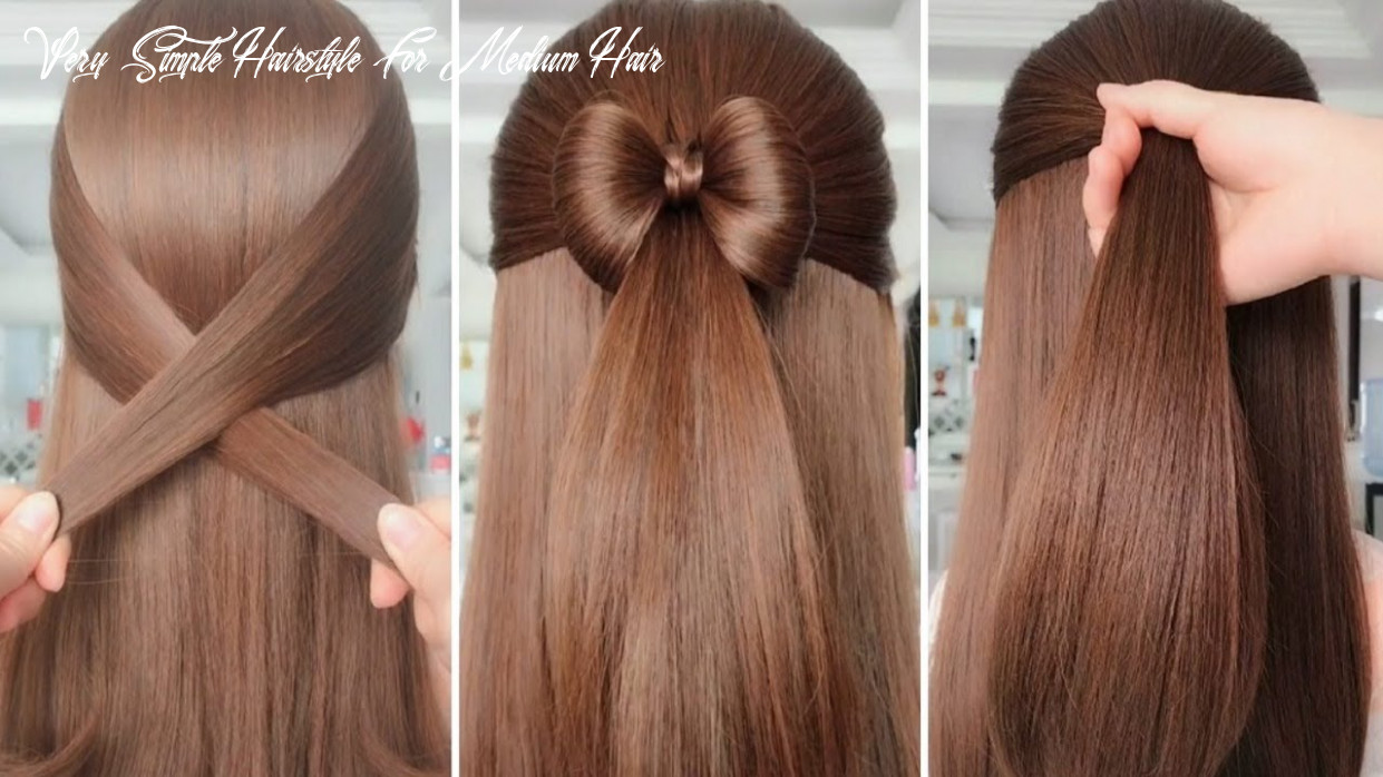 ⚠️ simple hairstyles for everyday ⚠️ hair tutorials very simple hairstyle for medium hair
