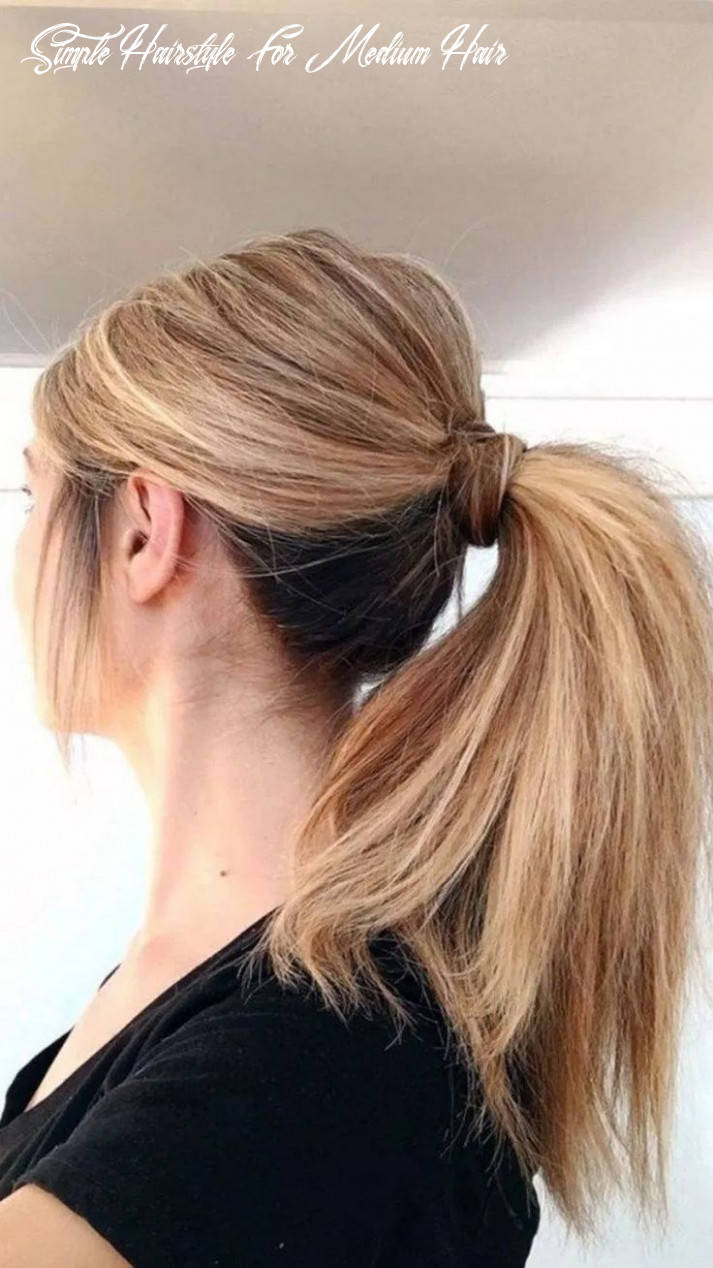 Simple hairstyles for medium hair in pony on stylevore simple hairstyle for medium hair