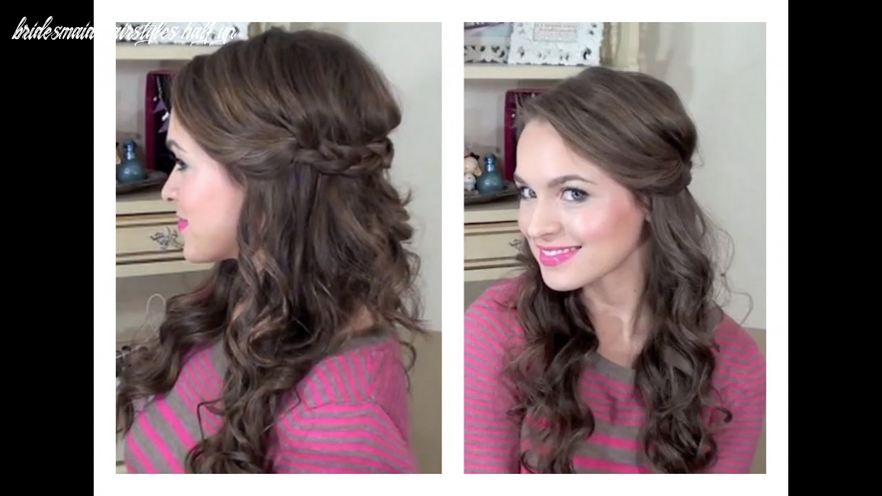 Simple half up hairstyle my bridesmaids hairstyles bridesmaid hairstyles half up