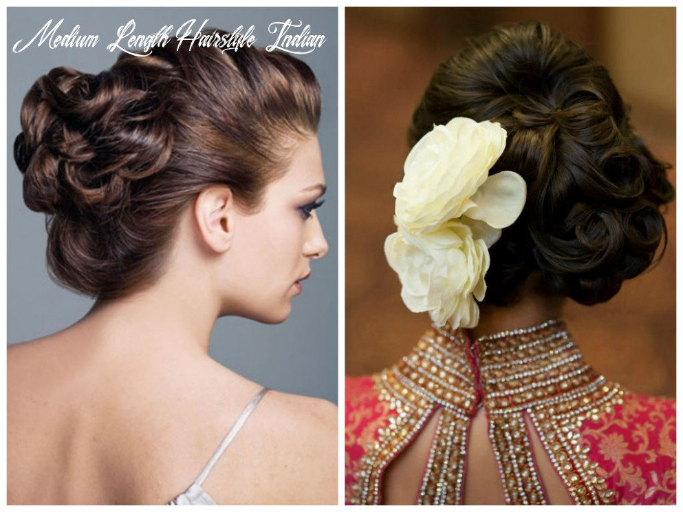 Simple indian hairstyle for medium length hair the latest trend