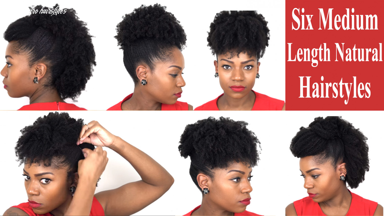 Six fabulous hairstyles for medium length natural hair great for