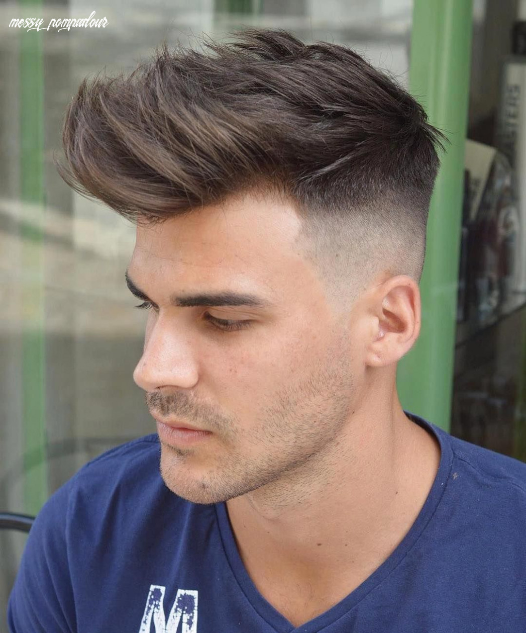Skin fade messy pompadour undercut #menshairstyles | mens