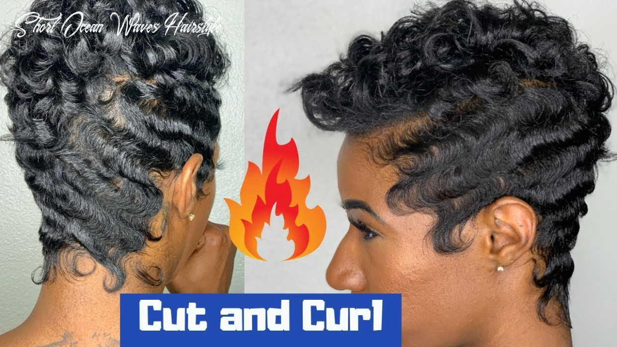 Soft waves and curls | how to finger wave short ocean waves hairstyle