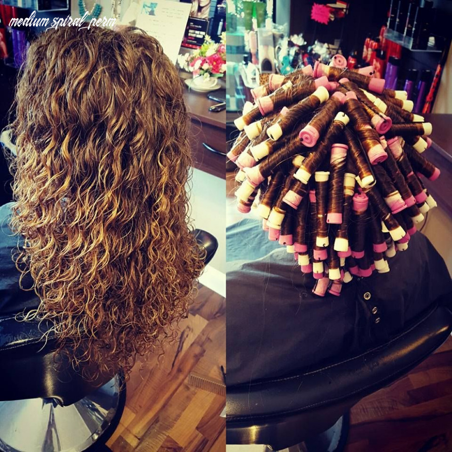 Spiral perm on white and lavender rods | permed hairstyles, long