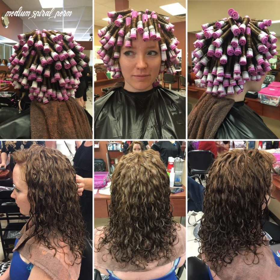 Spiral perm wrap and results from different angles | short permed