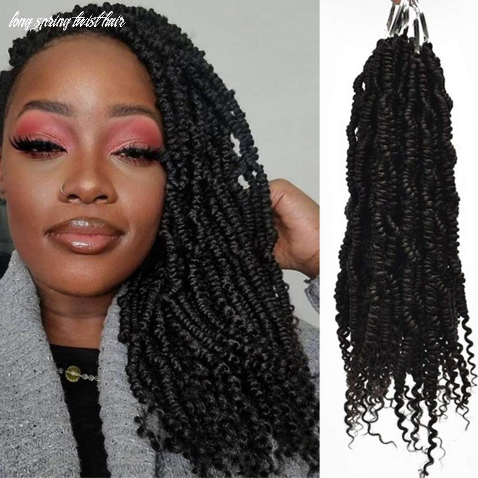 Spring twist crochet hair soft curly ends pre twisted bomb twist hair extensions(8inch,#8b,8pcs) long spring twist hair