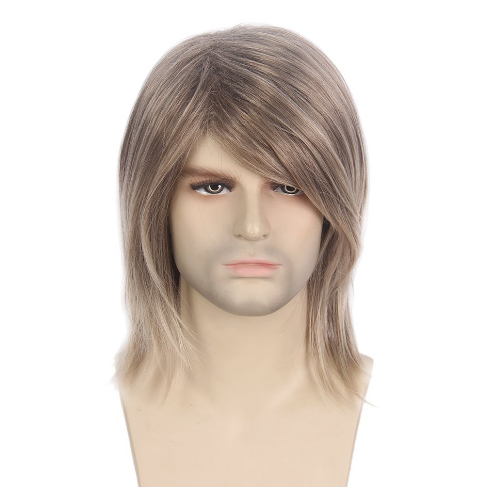 STfantasy Mens Wig Ombre Blonde Mid Length Long Straight for Male ...