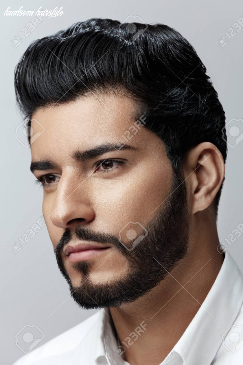 Stock photo handsome hairstyle